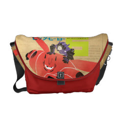 Rickshaw Medium Zero Messenger Bag with Big Hero 6 Propaganda Style design