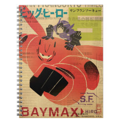Photo Notebook (6.5' x 8.75', 80 Pages B&W) with Big Hero 6 Propaganda Style design