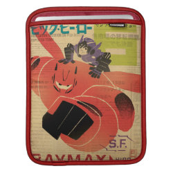 iPad Sleeve with Big Hero 6 Propaganda Style design