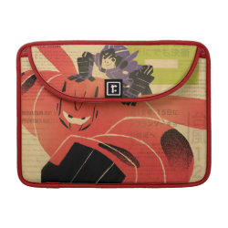 Macbook Pro 13' Flap Sleeve with Big Hero 6 Propaganda Style design
