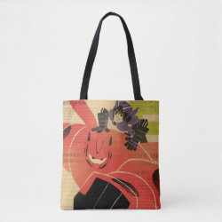 All-Over-Print Tote Bag, Medium with Big Hero 6 Propaganda Style design