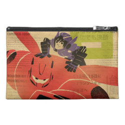 Travel Accessory Bag with Big Hero 6 Propaganda Style design