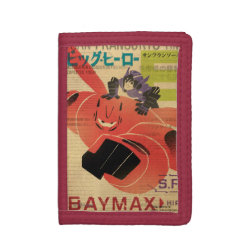 TriFold Nylon Wallet with Big Hero 6 Propaganda Style design