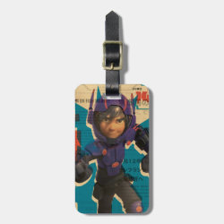 Small Luggage Tag with leather strap with Hiro Hamada from Big Hero 6 design
