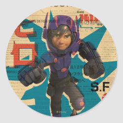 Hiro Hamada from Big Hero 6 Round Sticker