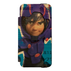 Incipio Watson™ iPhone 5/5s Wallet Case with Hiro Hamada from Big Hero 6 design