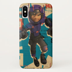 Case-Mate Barely There iPhone X Case with Hiro Hamada from Big Hero 6 design