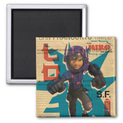 Hiro Hamada from Big Hero 6 Square Magnet