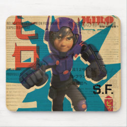 Mousepad with Hiro Hamada from Big Hero 6 design