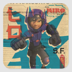 Hiro Hamada from Big Hero 6 Square Sticker