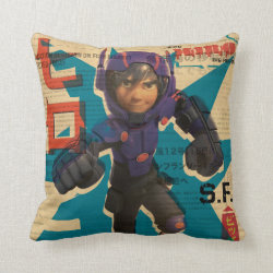 Hiro Hamada from Big Hero 6 Cotton Throw Pillow