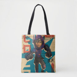 Hiro Hamada from Big Hero 6 All-Over-Print Tote Bag, Medium