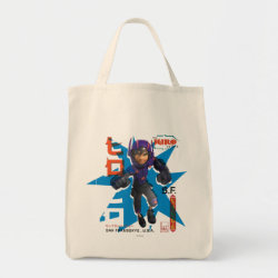 Grocery Tote with Hiro Hamada from Big Hero 6 design