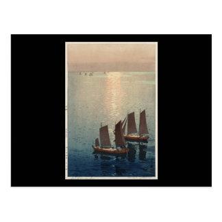Hiroshi Yoshida Hikaru umi Postcard