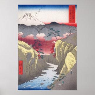 Hiroshige 富士三十六景 甲斐犬目峠 Inume Pass Poster