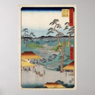 Hiroshige Hodogaya Póster