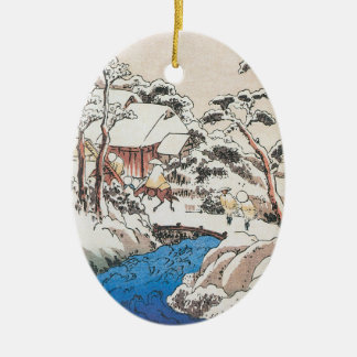 Hiroshige Japanese Fine Art Christmas Christmas Tree Ornament