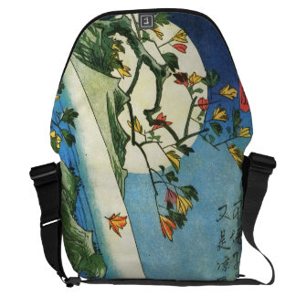Hiroshige Moon Over A Waterfall Japanese Fine Art Courier Bag