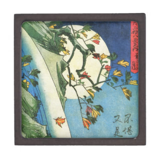 Hiroshige Moon Over A Waterfall Japanese Fine Art Gift Box