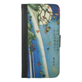 Hiroshige Moon Over A Waterfall Japanese Fine Art iPhone 6/6s Plus Wallet Case