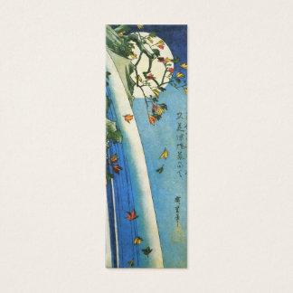 Hiroshige Moon Over A Waterfall Japanese Fine Art Mini Business Card