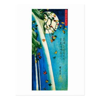 Hiroshige Moon Over Waterfall Fine Art Postcard