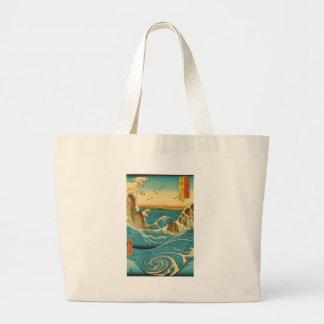 Hiroshige Navaro Rapids Tote Bags