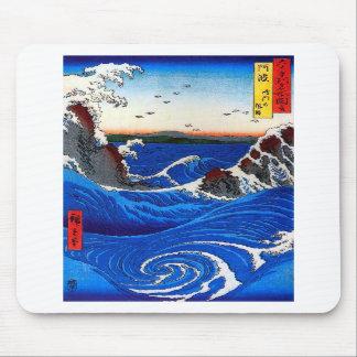 Hiroshige Navaro Rapids Fine Japanese Vintage Mouse Pads