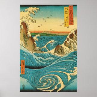 Hiroshige Navaro Rapids Poster