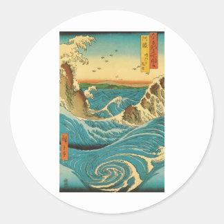 Hiroshige Navaro Rapids Stickers