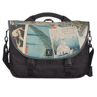 Hiroshige Print Collage - Laptop Bag