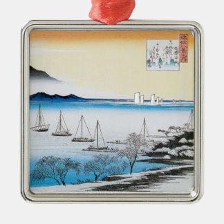 Hiroshige Sailing Japanese Christmas Ornament
