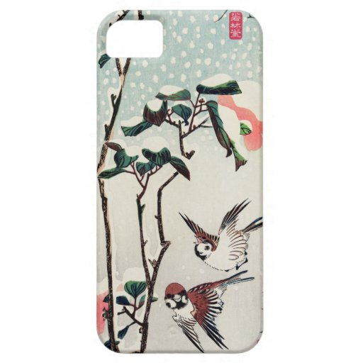 Hiroshige Sparrows and Camellias in the Snow iPhone 5 Covers