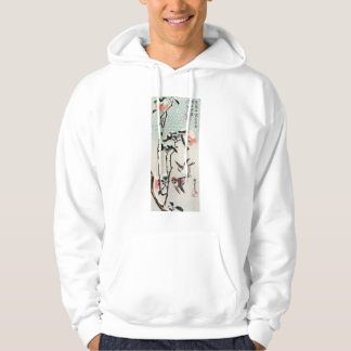 Hiroshige Sparrows and Camellias in the Snow Hoodies