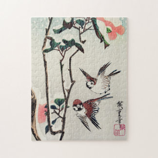 Hiroshige Sparrows and Camellias in the Snow Jigsaw Puzzles