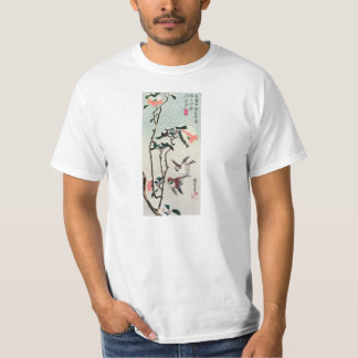 Hiroshige Sparrows and Camellias in the Snow T-Shirt