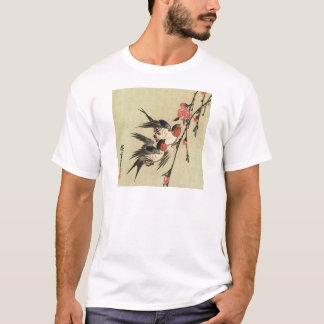 Hiroshige Swallows and Peach Blossoms T-Shirt