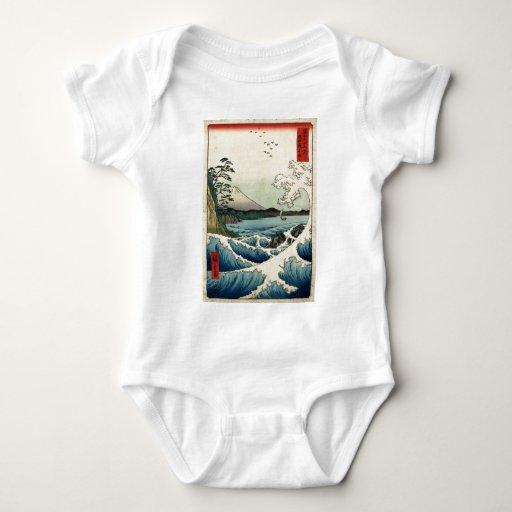 Hiroshige The sea at Satta in Suruga Province Baby Bodysuit