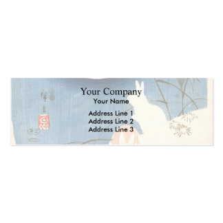 Hiroshige:Two Rabbits,Pampas Grass,full Moon Double-Sided Mini Business Cards (Pack Of 20)