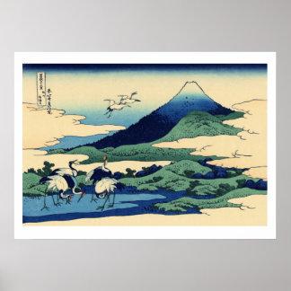 Hiroshige - Umegawa en la provincia de Sagami Póster
