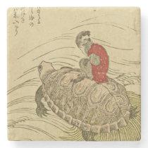 Hiroshige Utagawa- Tortoise with monkey Stone Coaster