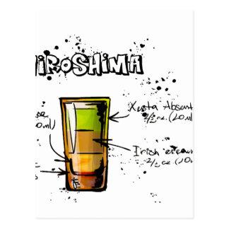 Hiroshima Cocktail Recipe Postcard