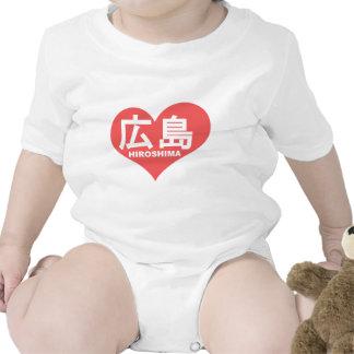 Hiroshima Heart Infant Creeper