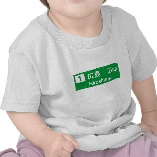 Hiroshima, Japan Road Sign Shirt