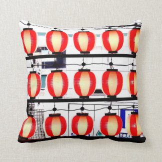 """Hiroshima Lanterns"" JTG Art Pillow"