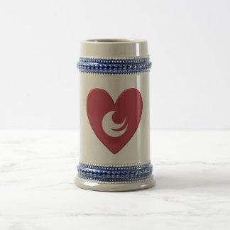 Hiroshima Prefecture Flag Heart 18 Oz Beer Stein