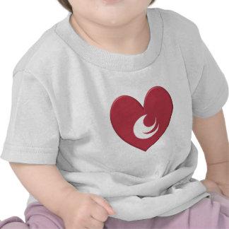 Hiroshima Prefecture Flag Heart T-shirt