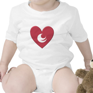Hiroshima Prefecture Flag Heart Bodysuit