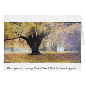 Hirschpark in Hamburg Card