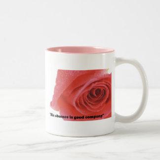 His absence is good company Two-Tone coffee mug